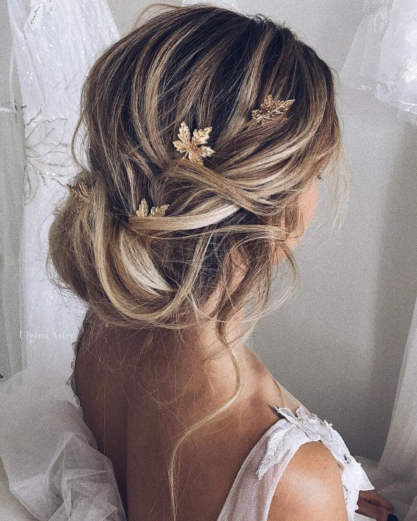 Messy Bridal Updo Hairstyle
