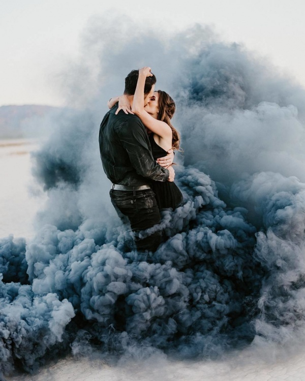 Halloween Wedding Inspiration with Black Smoke