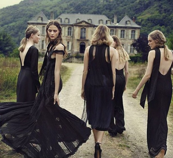 Gothic Bridesmaids Dresses
