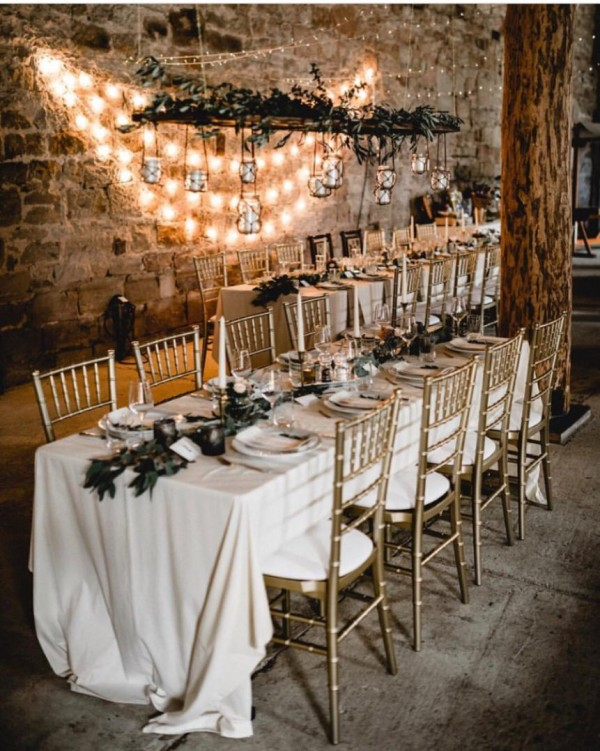 Table Setting with Romantic Lights