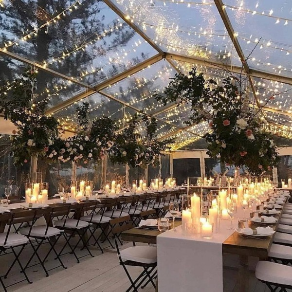 Romantic Lights and Table Setting