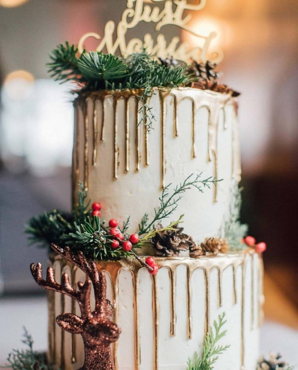 Winter Cakes with Drip Details