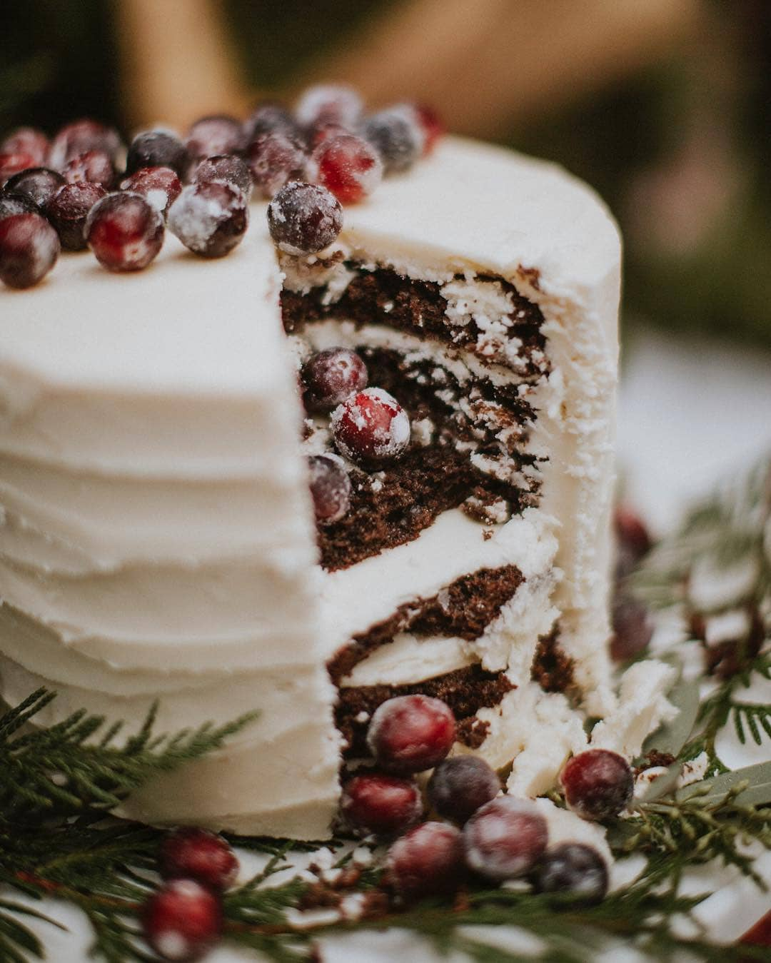 Winter Wedding Cake with Berries