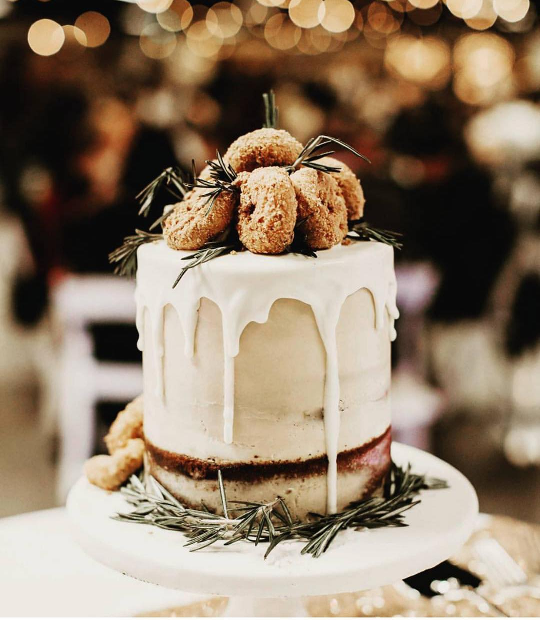 Winter Wedding Cake with Donuts