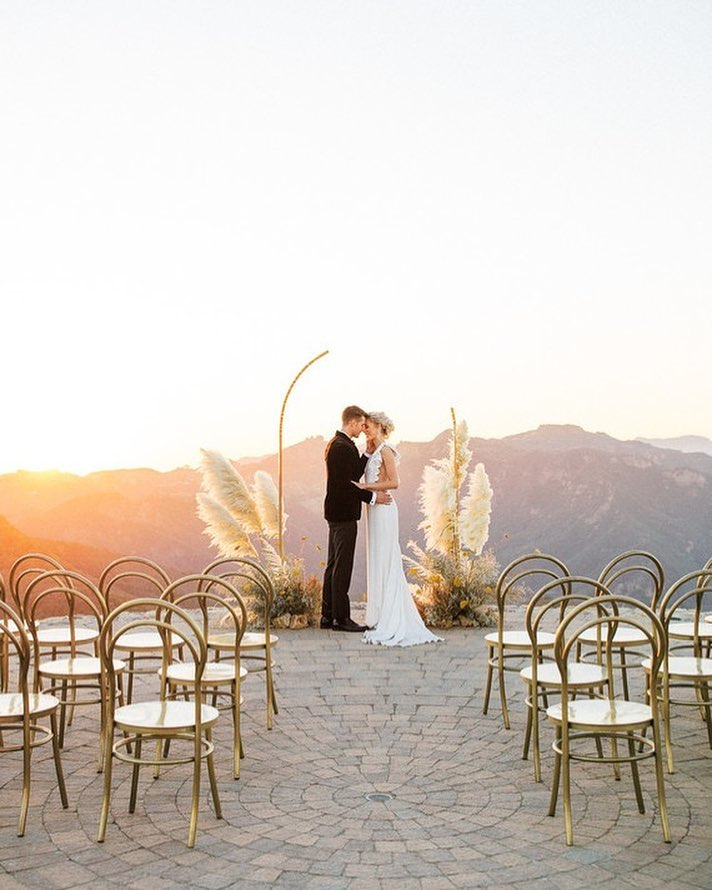 Wedding Arbour Backdrop with Sunset