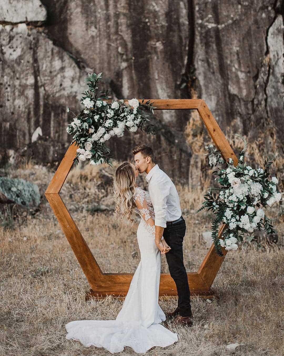 Wedding Backdrop with Couple