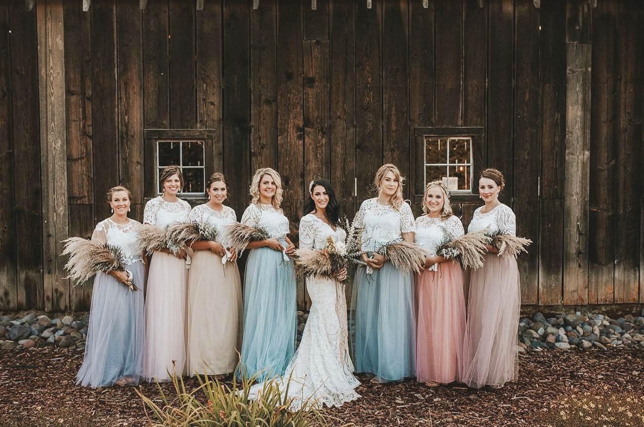 Spring Bridesmaid Dresses with Tulle