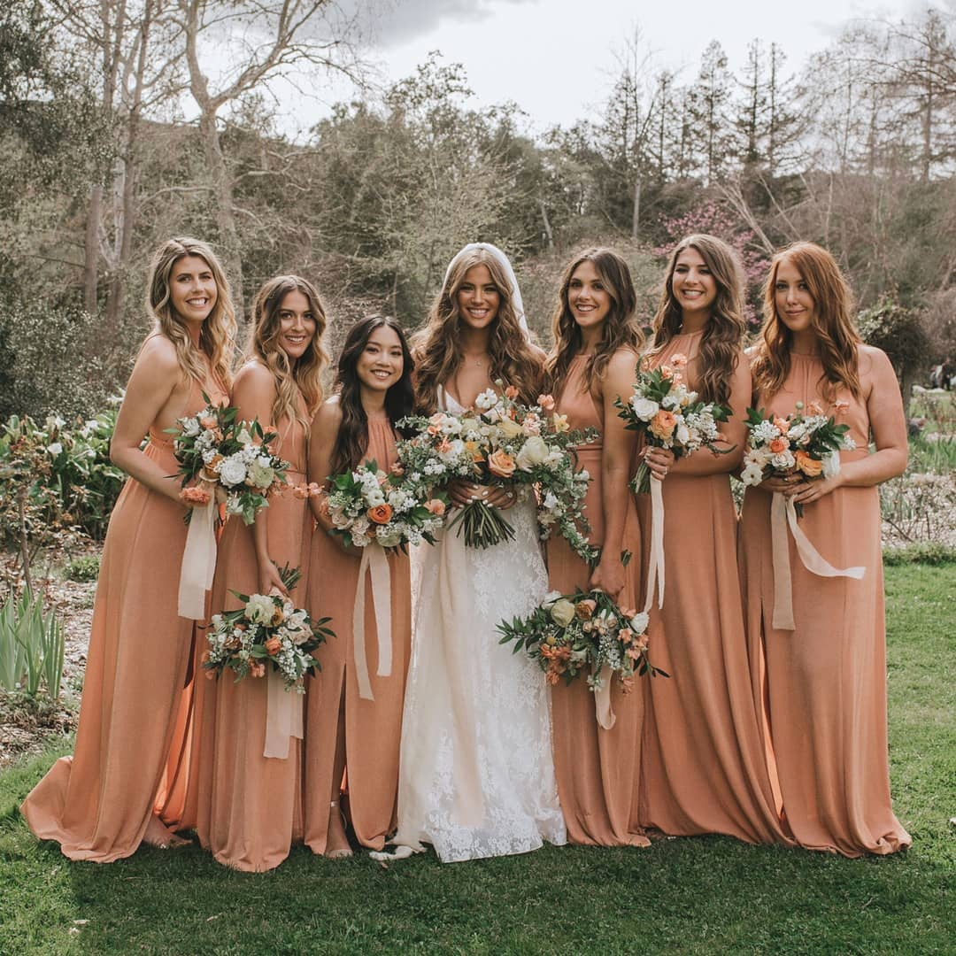 Bridesmaid Dresses in Orange