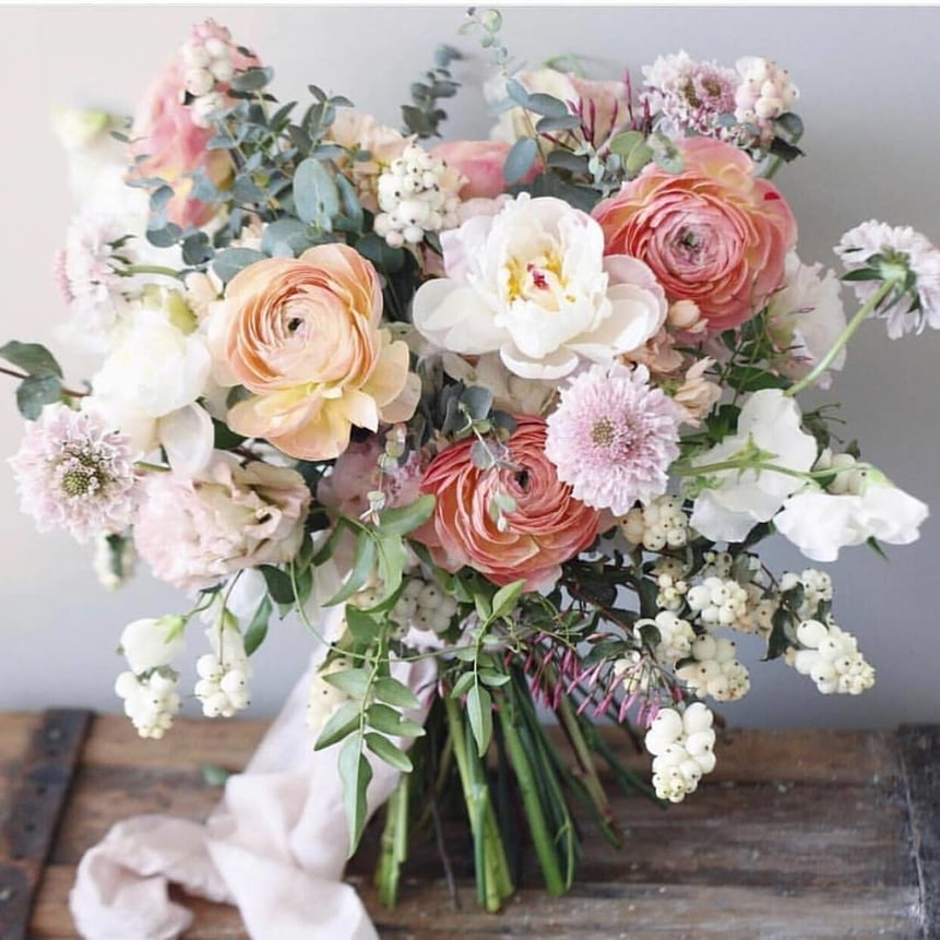 Spring Pastel Flower Bouquet