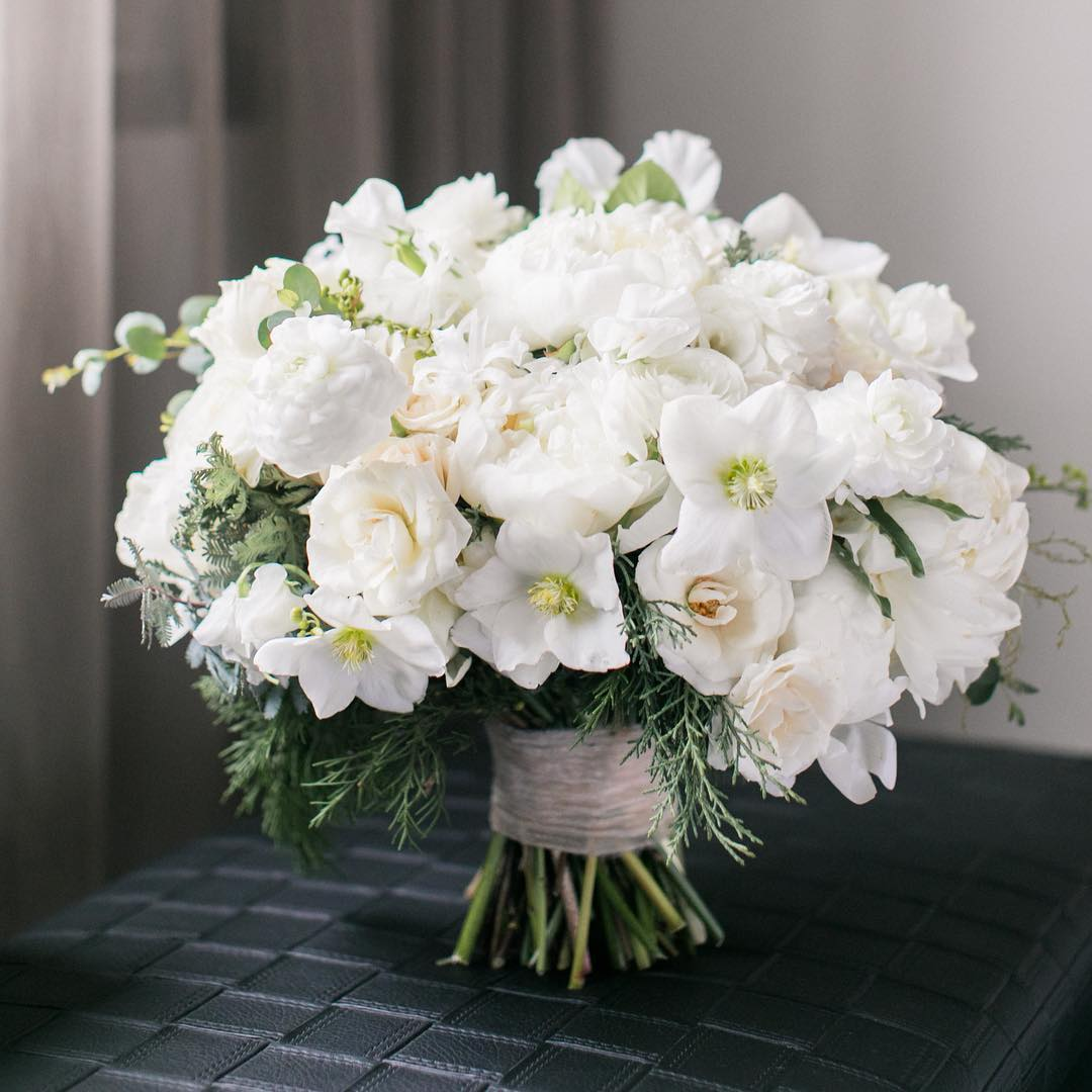 White Spring Flower Bouquet