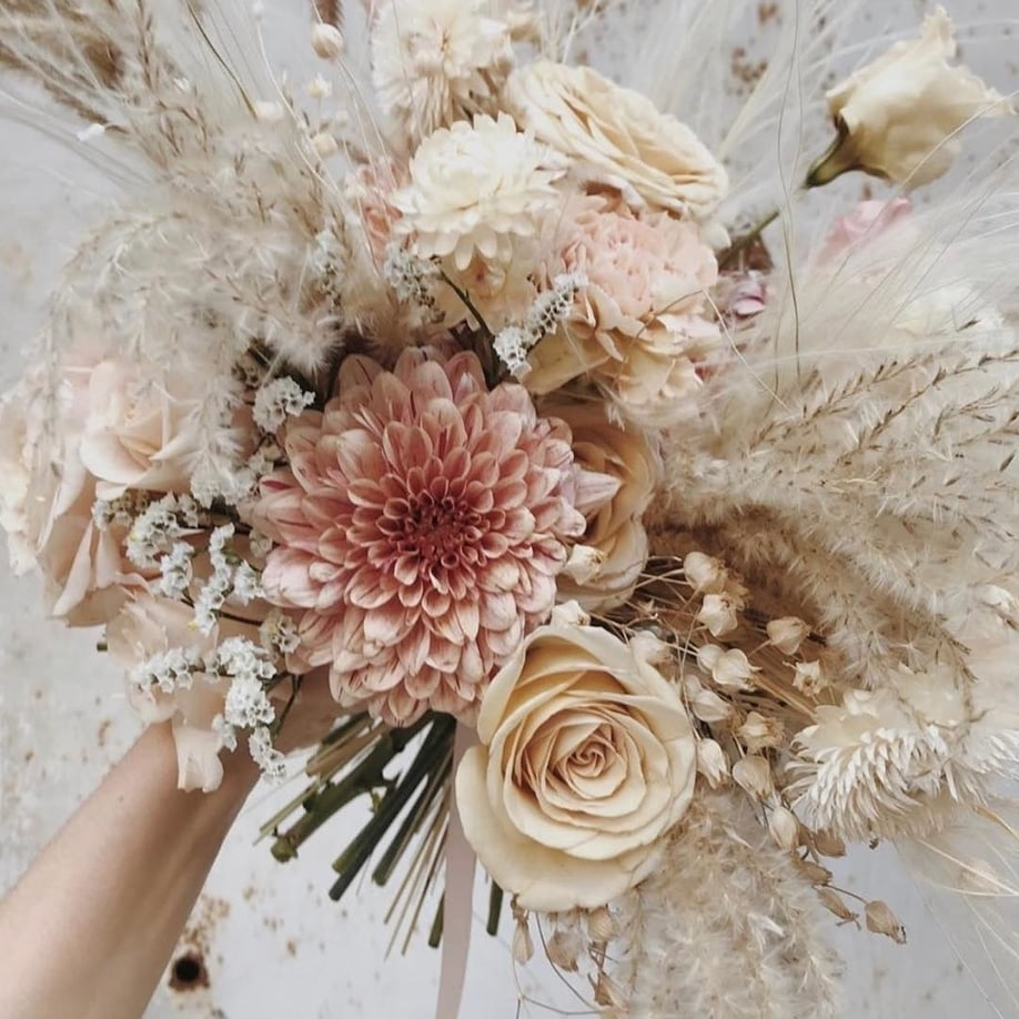 Spring Flower Bouquet in Blush Tones