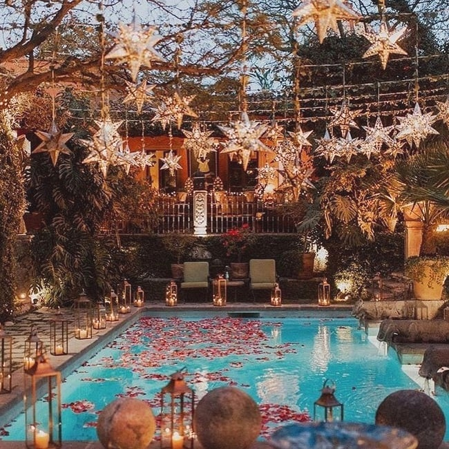 Pool Venue Wedding Reception