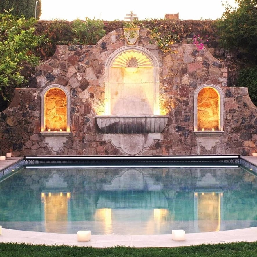 Pool Venue with Candles