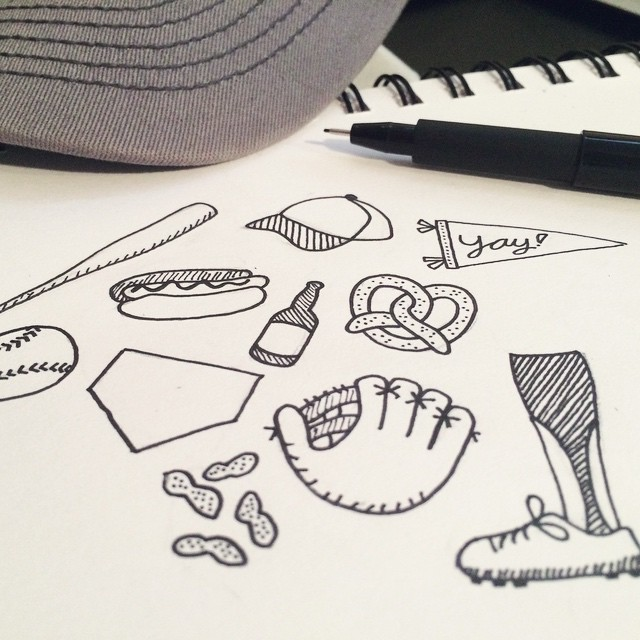 random #baseball doodlings. (hmm... future pins? maybe a pattern? maybe I just like doodling.we already knew I liked baseball.)