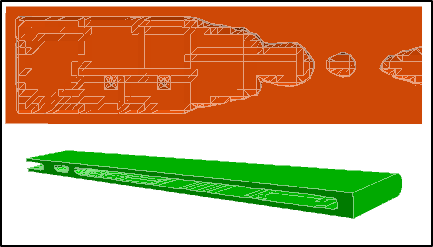 Internal topology optimization of 3D rectangular wing