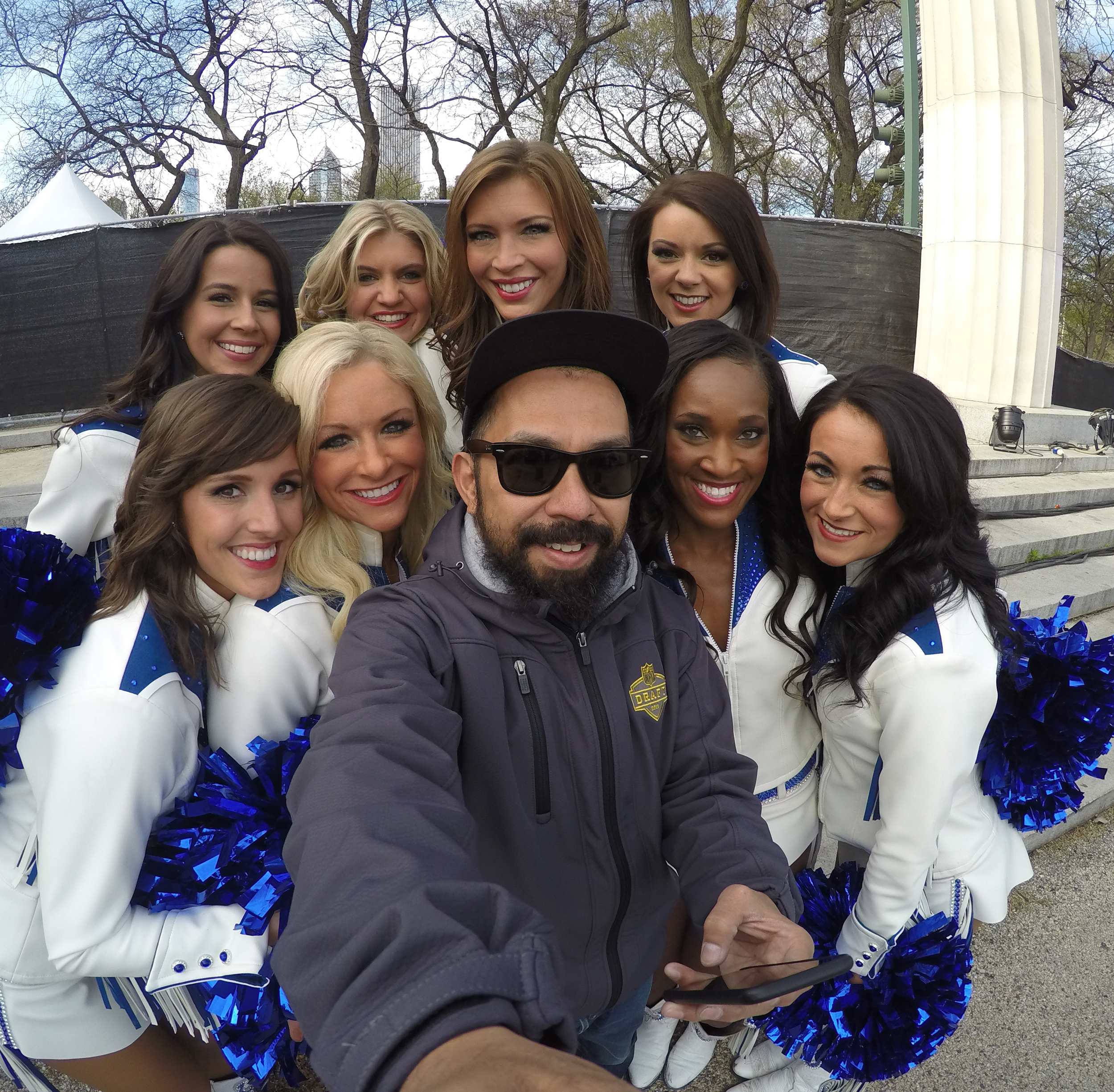 2015 NFL Draft with the Indianapolis Colts Cheerleaders - Chicago - May 2015