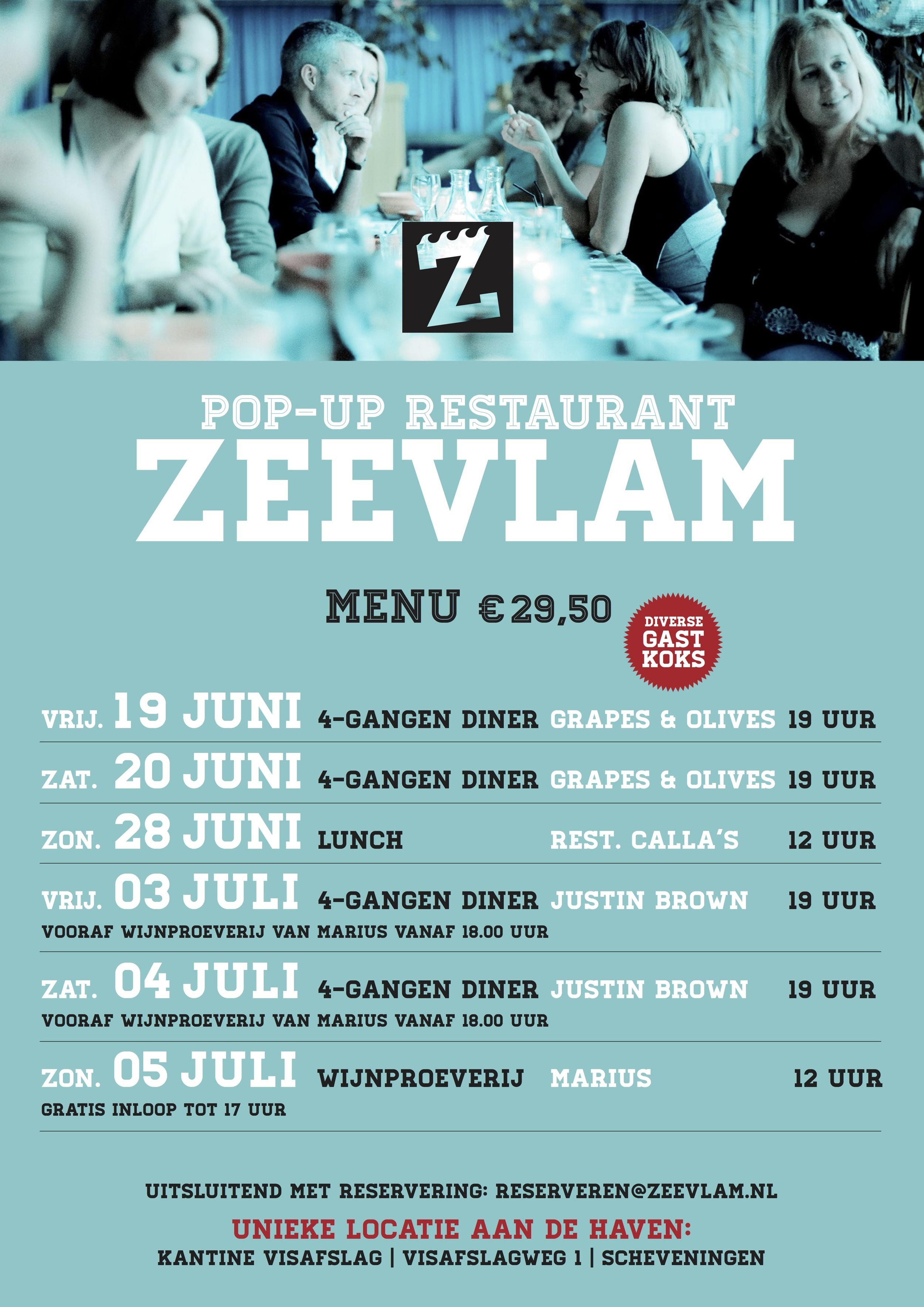 Agenda Pop-up Restaurant Zeevlam