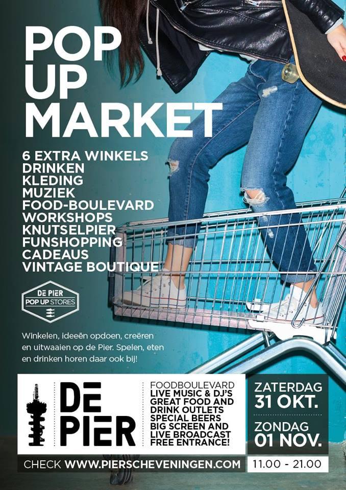Pop up Market de Pier  Scheveningen