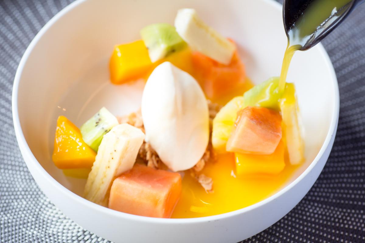 'Soep' exotisch fruit, exotisch roomijs | Restaurant Oogst
