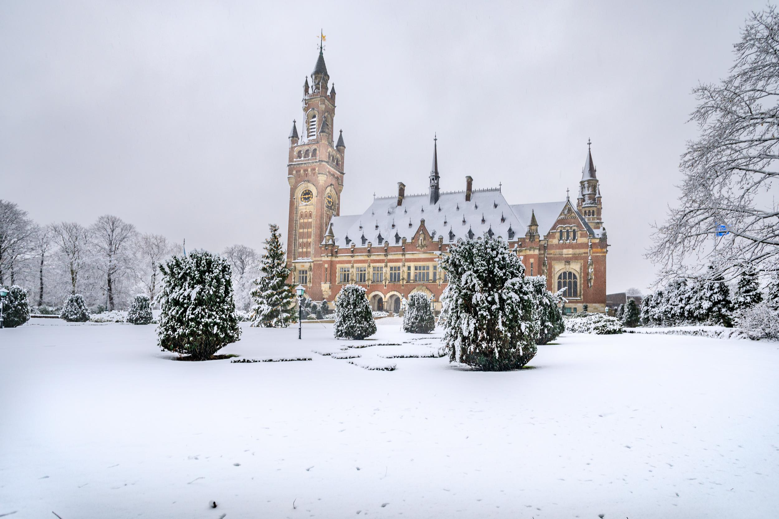 Sneeuw Vredespaleis