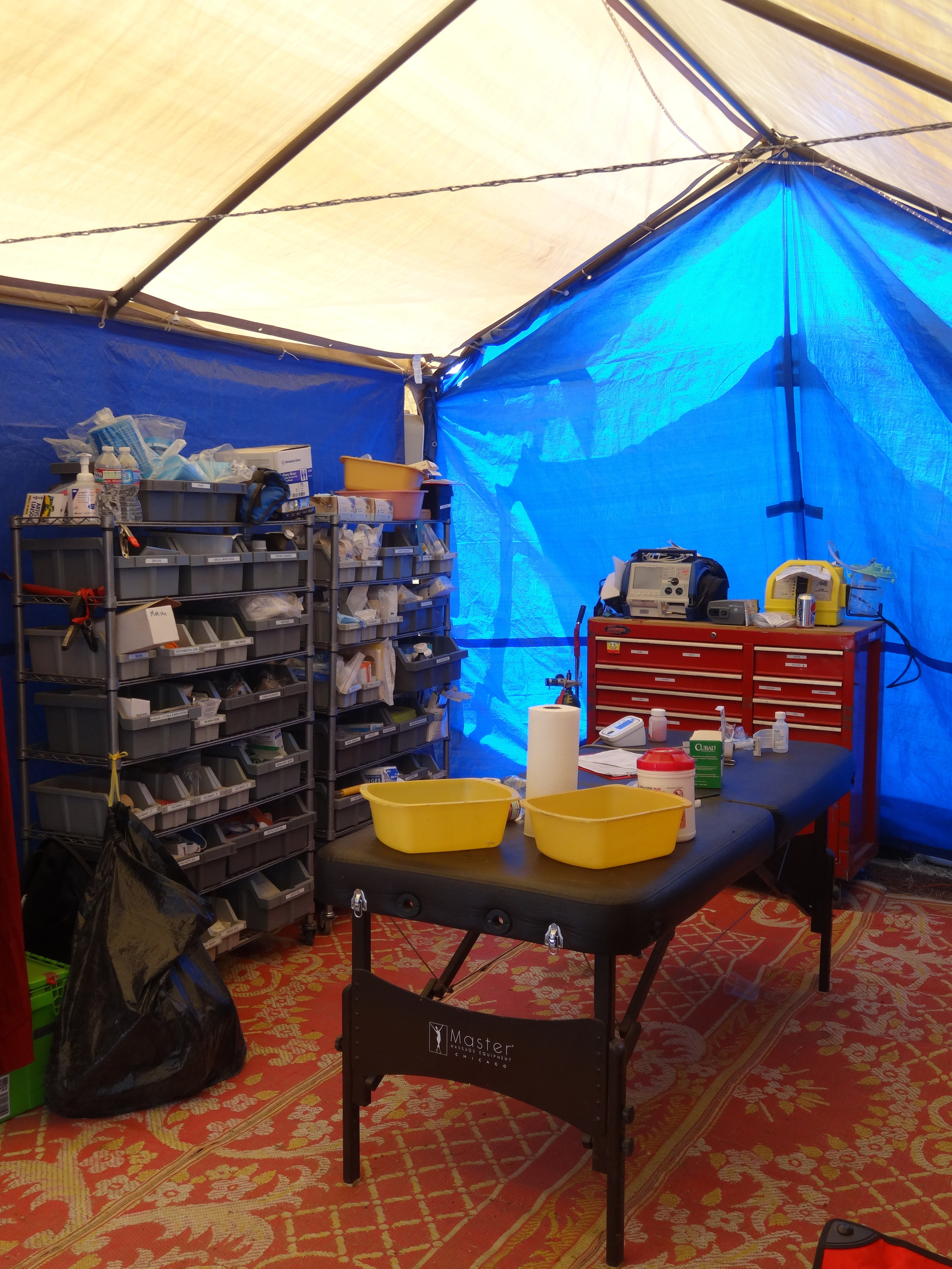Medical facilities at a festival