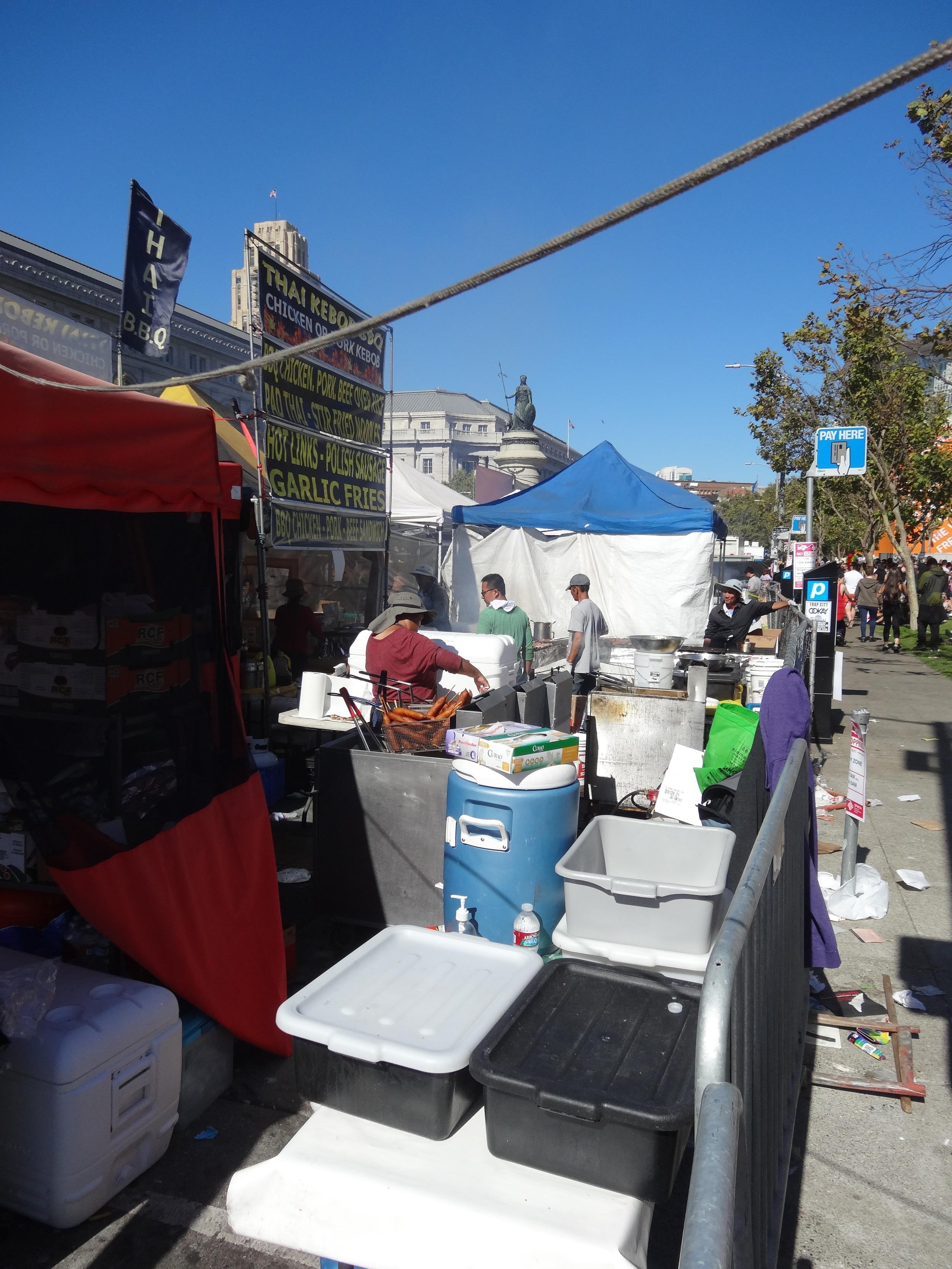 Food stalls at festivals