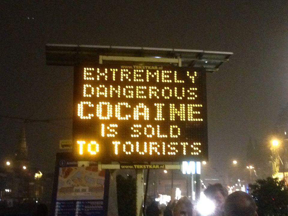 Warning signs in Amsterdam