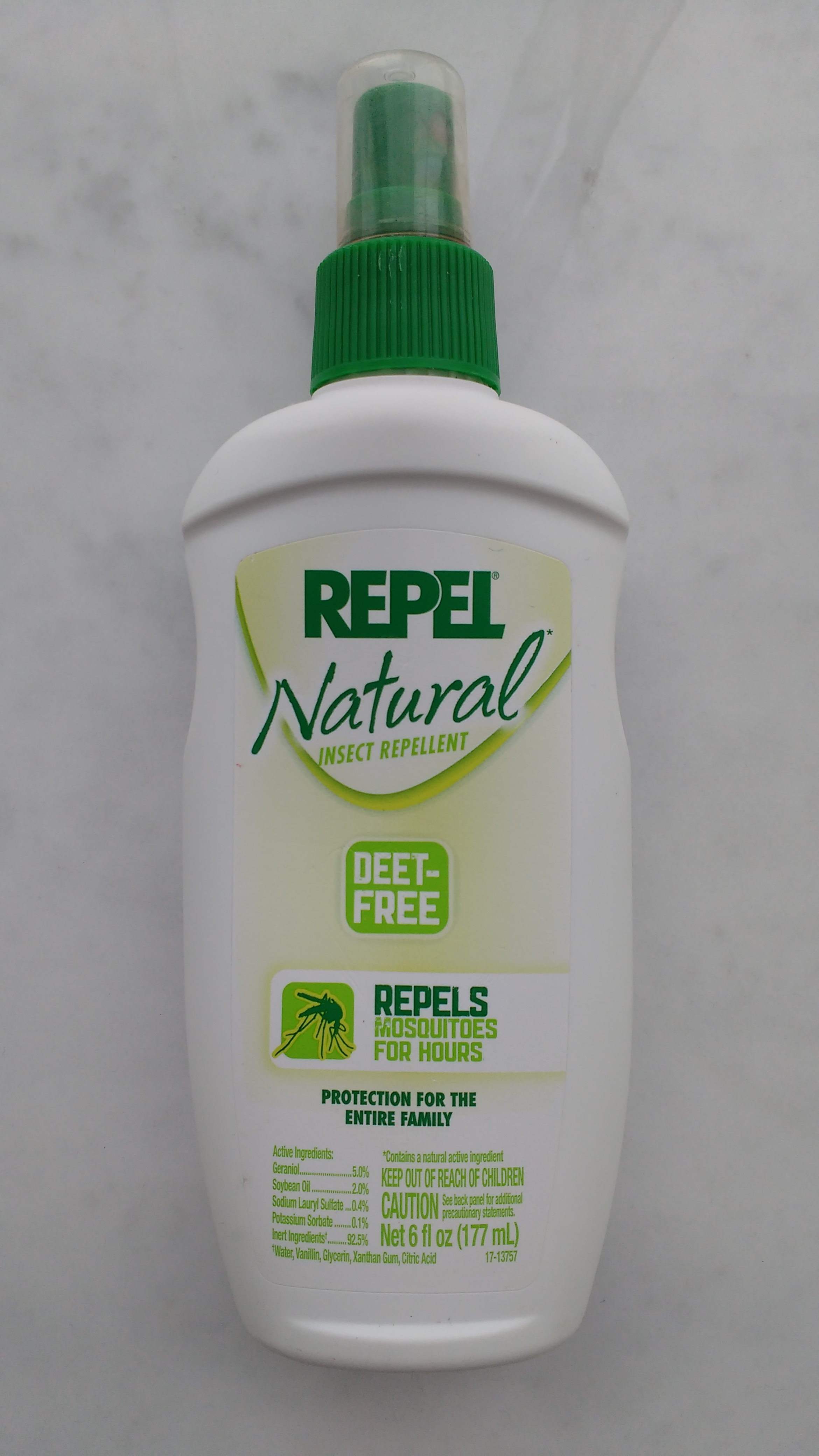 Deet-free. Protection for the entire family but keep out of reach of kids...