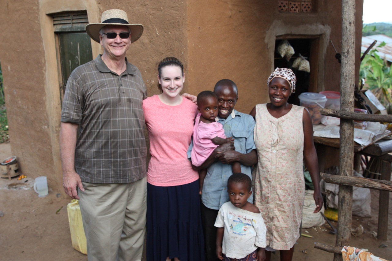 My husband and daughter in Uganda.
