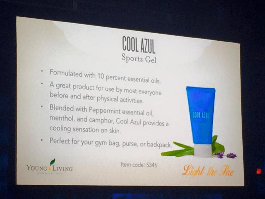 Cool Azul Sports Gel earns its name with a cool mix of Peppermint essential oil, methol and camphor.