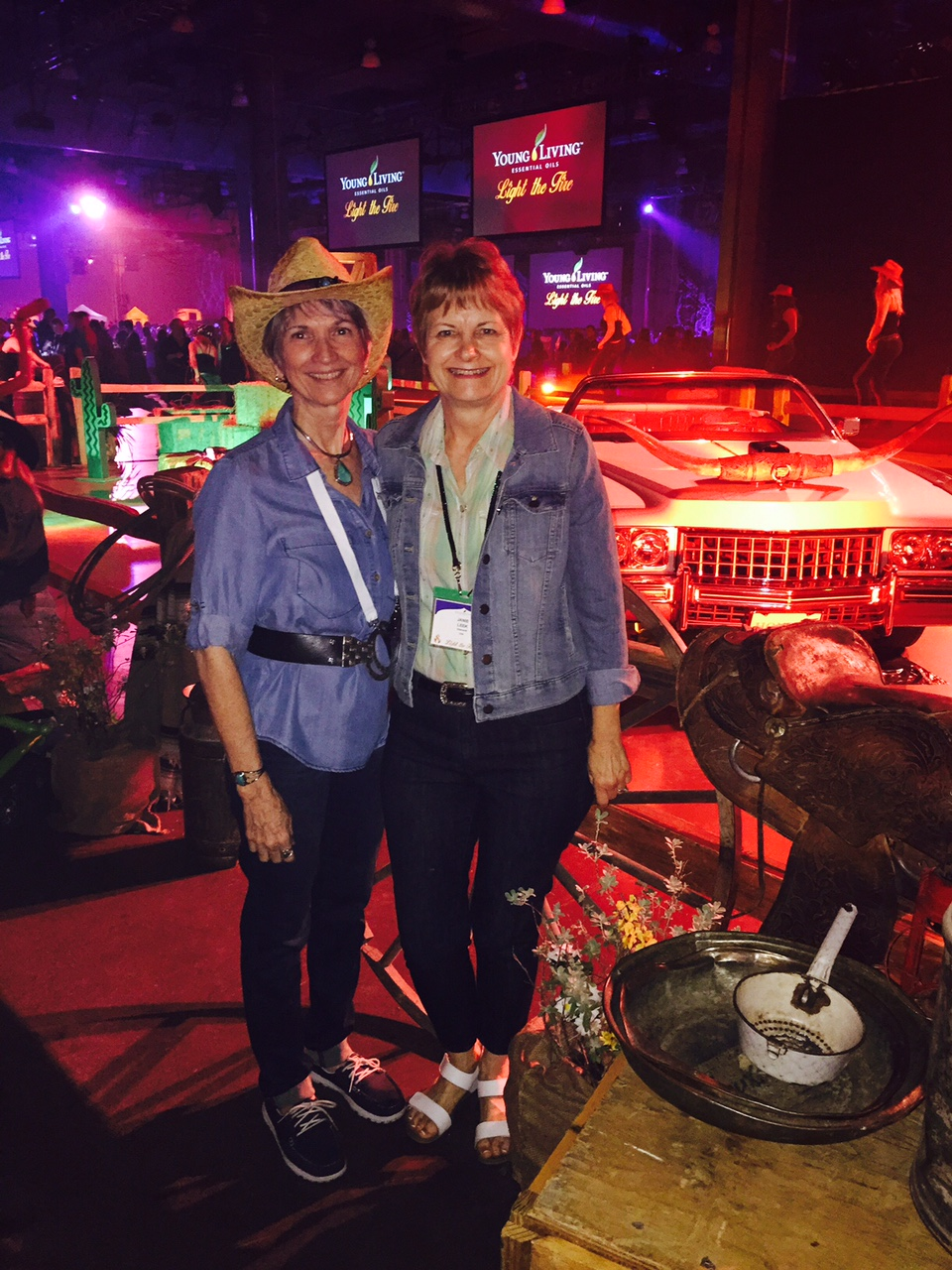 """""""My life would not be as blessed as it is now, without Young Living!"""" --Joyce Swanson with our Diamond, Janie Leek."""