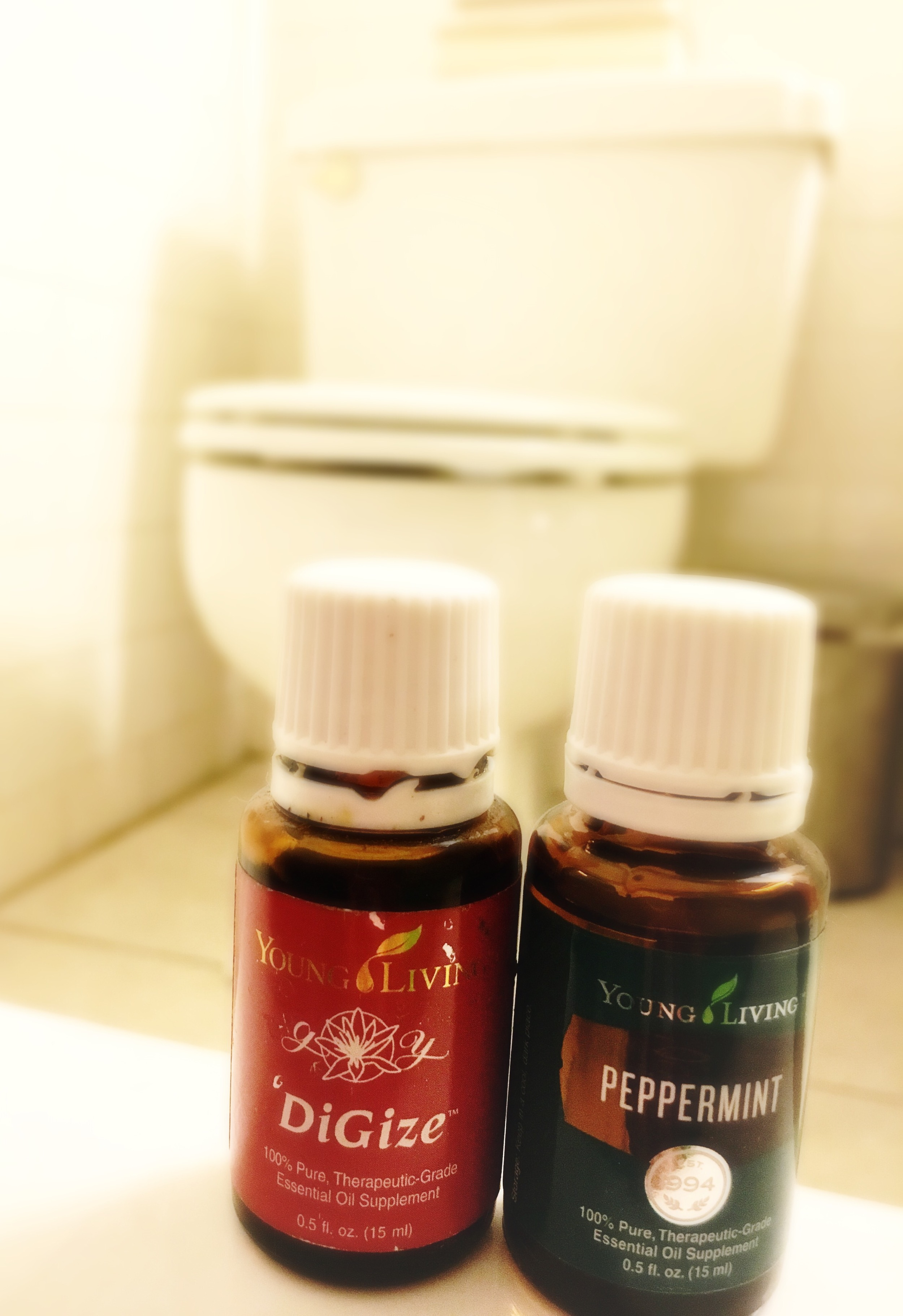 Spend time with your family...not the bathroom with the help of DiGize and Peppermint essential oils.