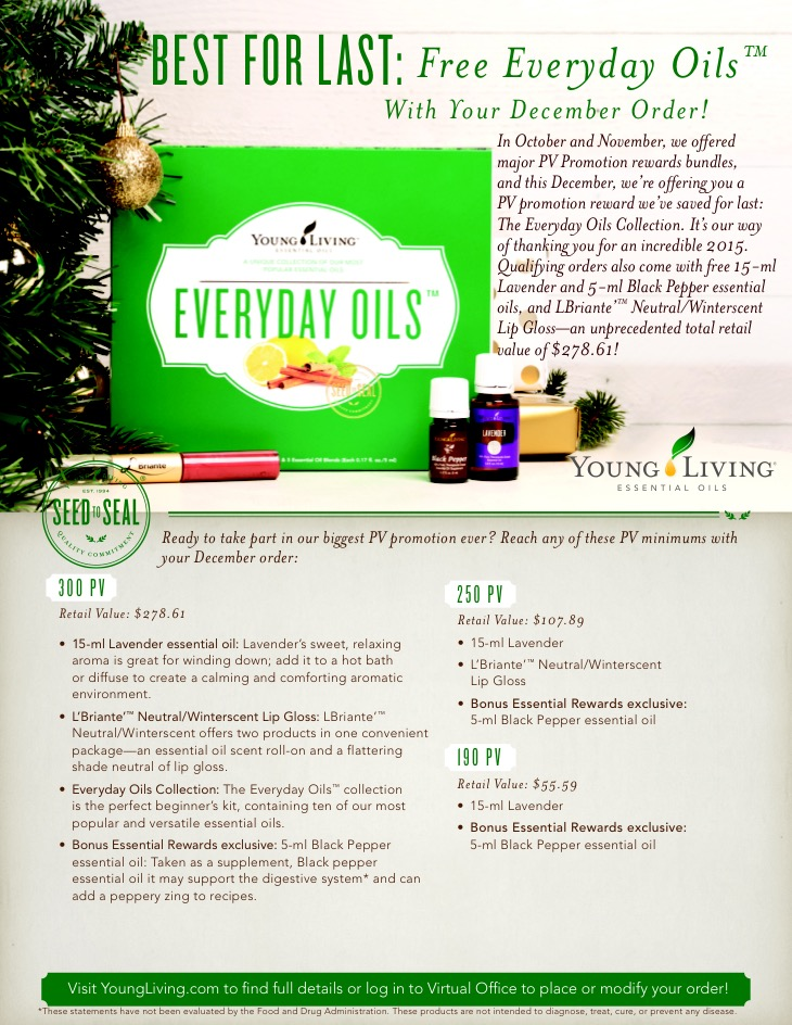 Young Living December Promotion