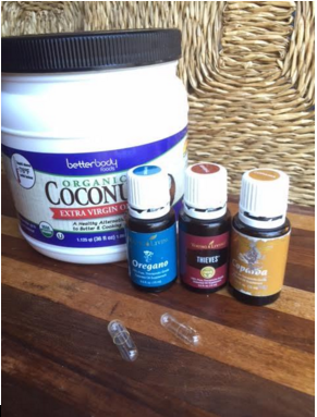I take   Oregano Oil,   Copaiba , and  Thieves  to promote organ health. Organic coconut oil is great for its probiotic power.