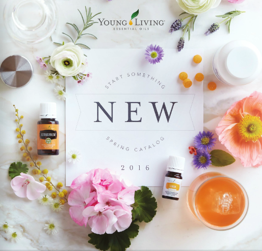 So many tempting options in Young Living's first ever Spring Catalog!