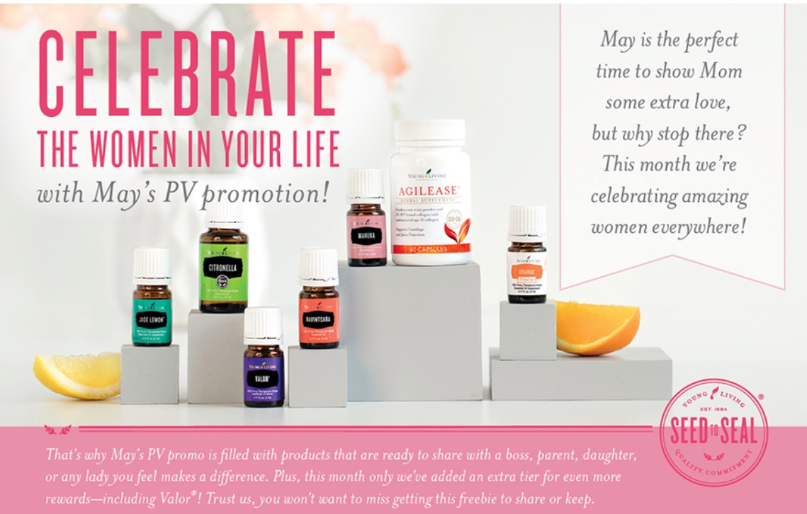 Also included in this month's freebies: AgilEase for joint health support, sweet signature scent Jade Lemon, fresh Citronella and delectable Orange Vitality.