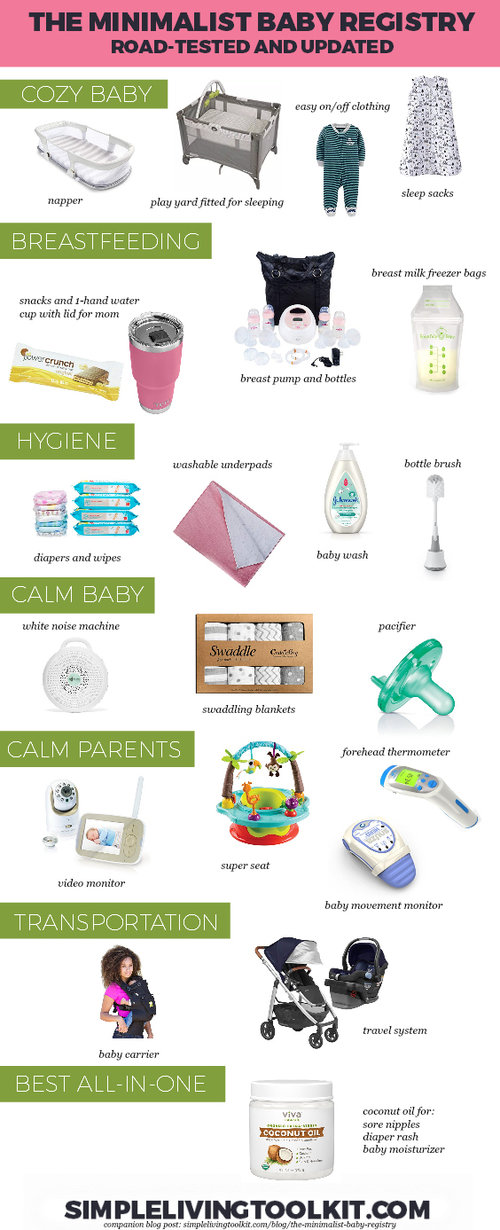 The Minimalist Baby Registry Checklist Simple Living Toolkit