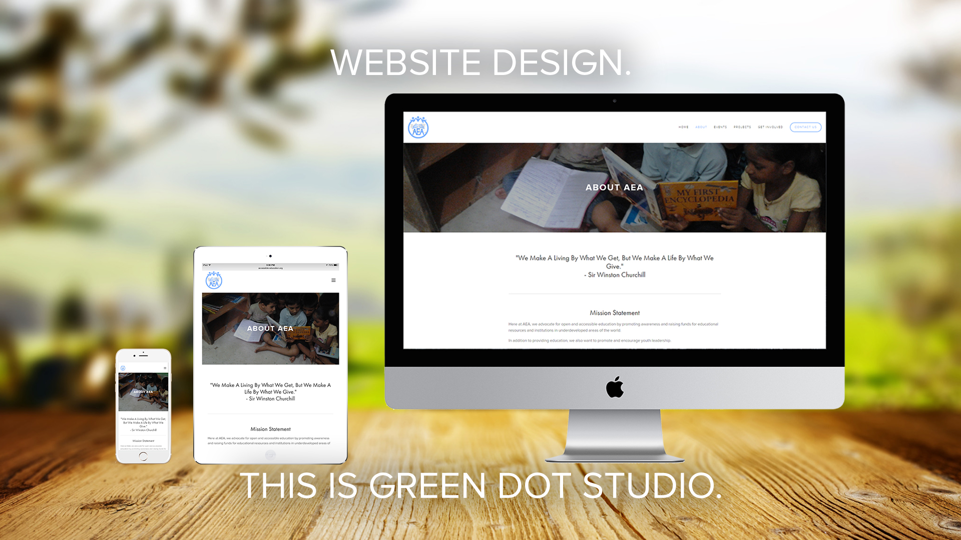 Website Design    This is Green Dot Studio.