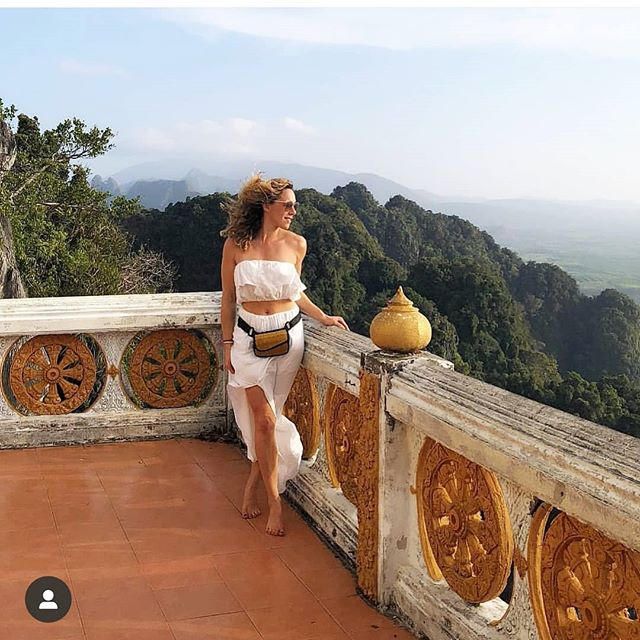 @ninaornstein Thank you for sharing your journey plus beautiful places with us.  Our La Breeze Hip Bags looks beautiful on you! ❤ . . . . . #sarayebags #basketsofcambodiapurses #tatamipurses #travelbags #fannypack #wanderlust #wholesaler #designer #distributor #original #travelaccessories #madeincambodia #naturalsociety #fashion #transparentfairtrade #accessories #consciousgift #sharemybag #textiledesign #greenbrown