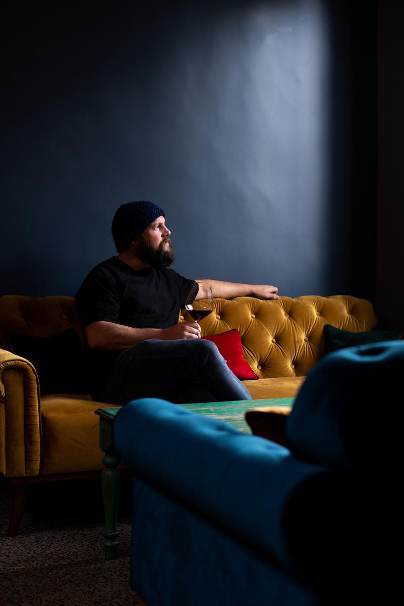 Matisse bar-man drinking in atmospheric bar.jpg