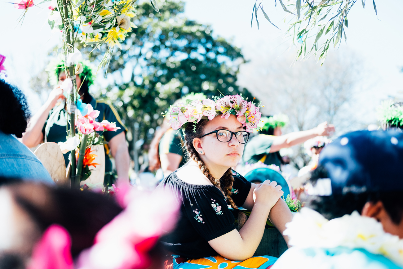 Photograph of the Blossom Parade Festival in Hastings, Hawke's Bay by Florence Charvin