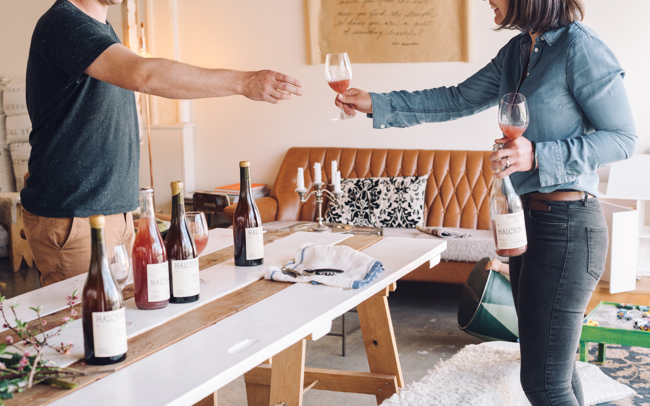 Florence Charvin styled and photographed this lifestyle wine bottles shoot in living room in Hawkes bay