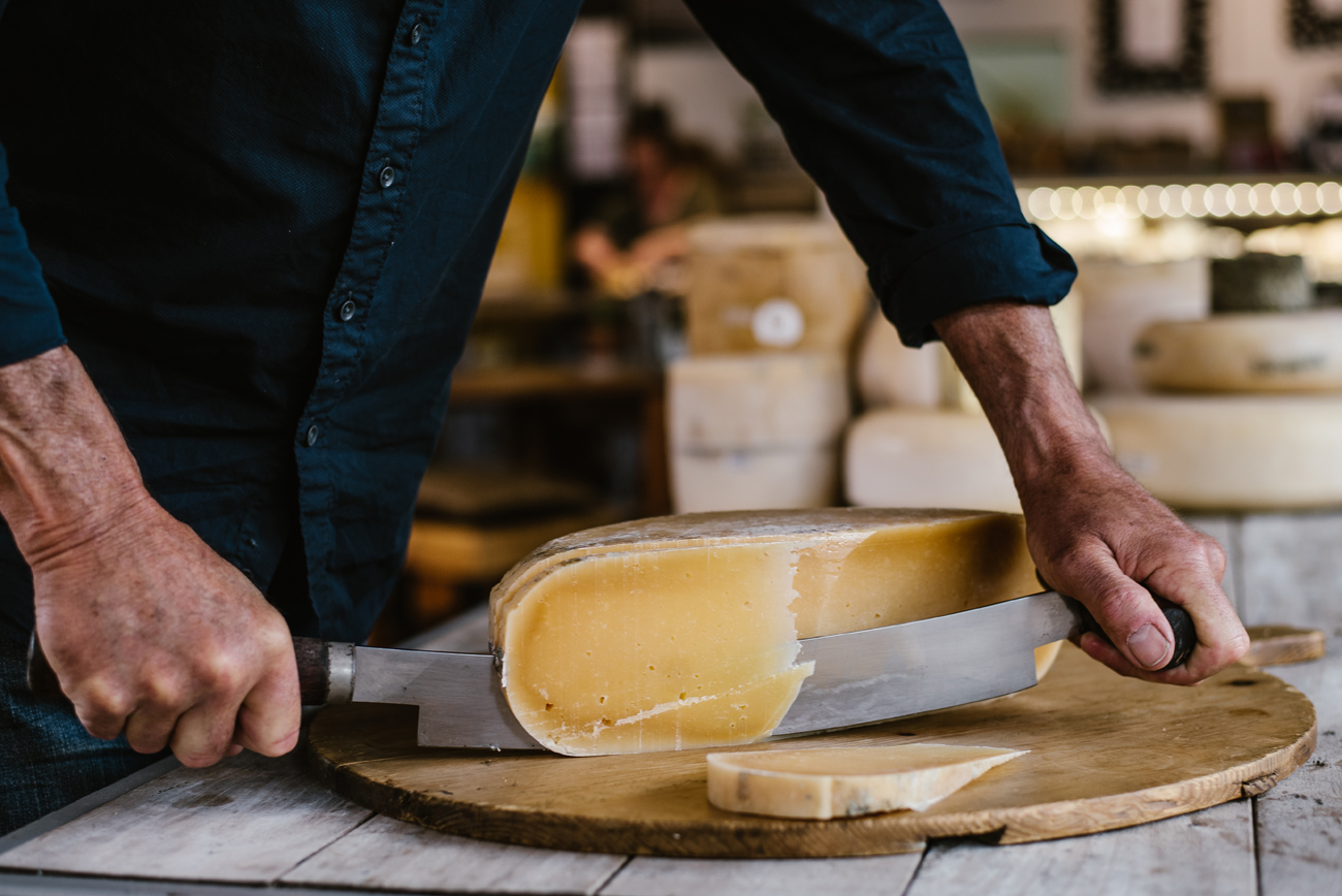 Big round cheese from Origin Earth being photographed by professional photographer Florence Charvin in Hawke's Bay, New Zealand