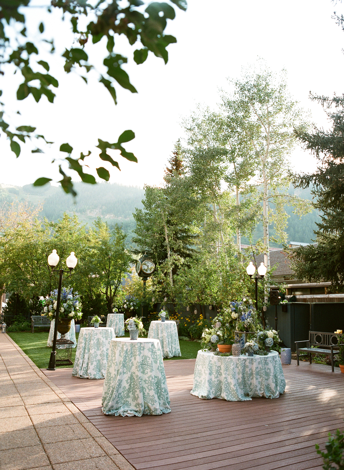 Garden Party with Blue Cocktail Tables