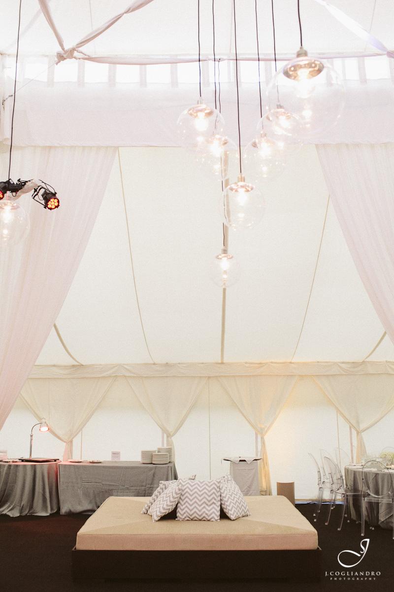 White Reception Tent Interior