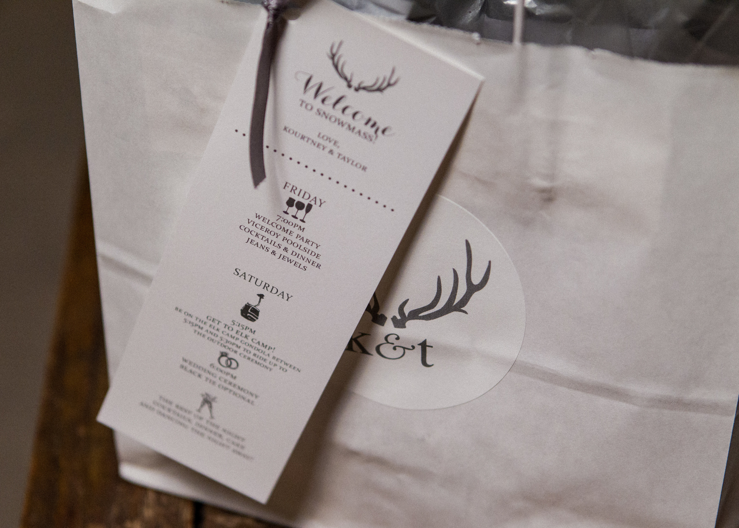 Welcome Welcome Gift Bag with Agenda