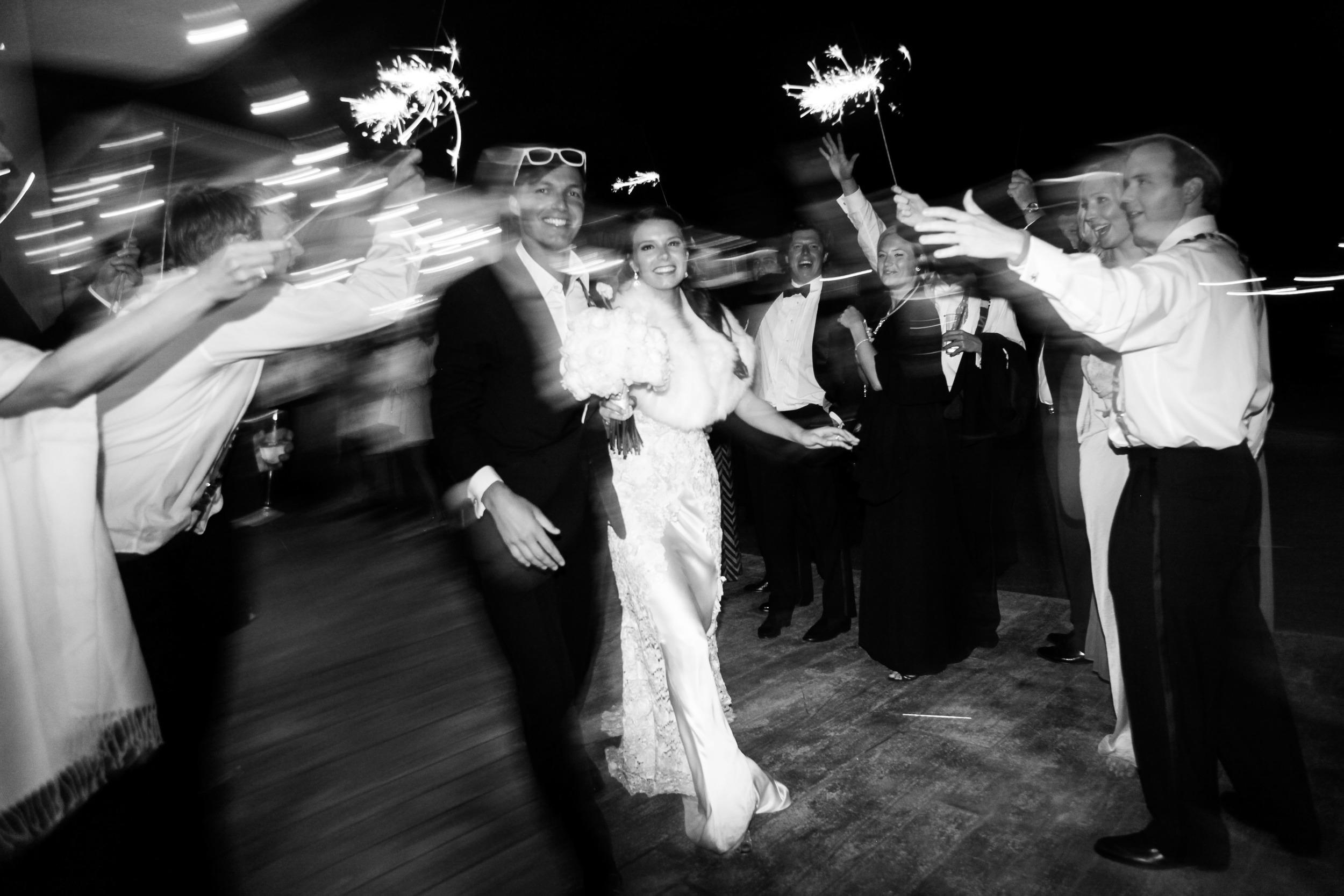 Bride & Groom Sparkler Exit