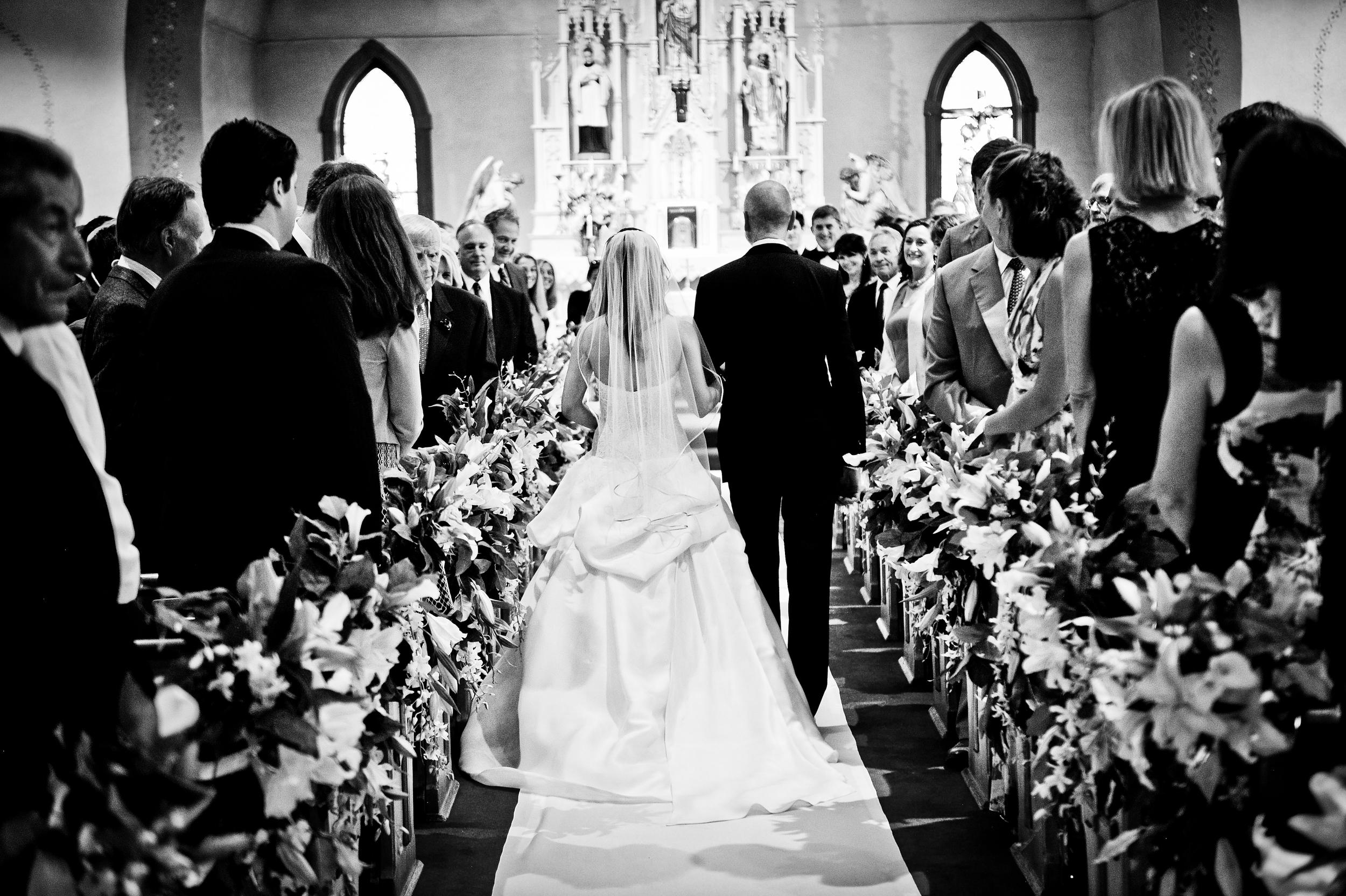 Bride & Father Walking Down Aisle