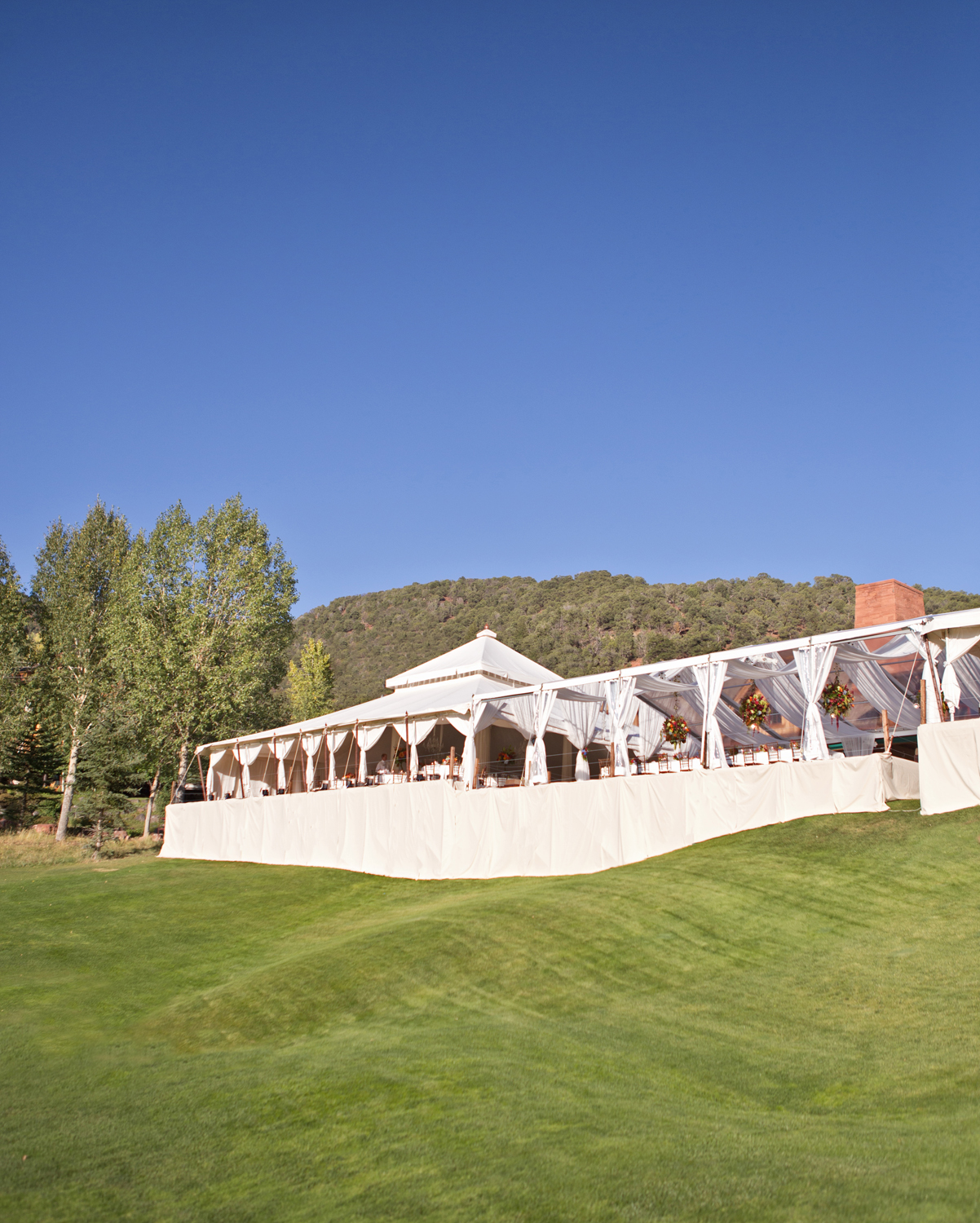 Tented reception at Roaring Fork Club