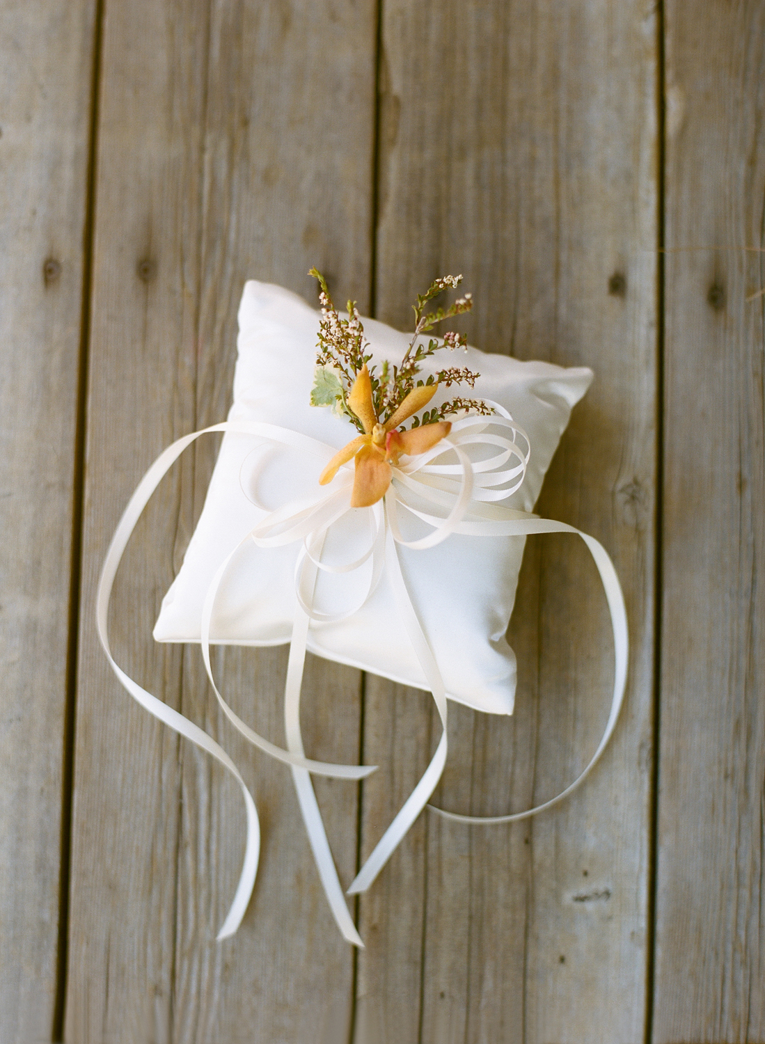 Ring bearer pillow with fresh sprig